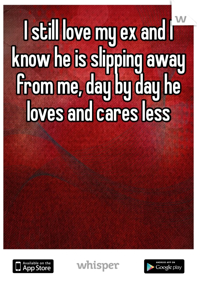 I still love my ex and I know he is slipping away from me, day by day he loves and cares less