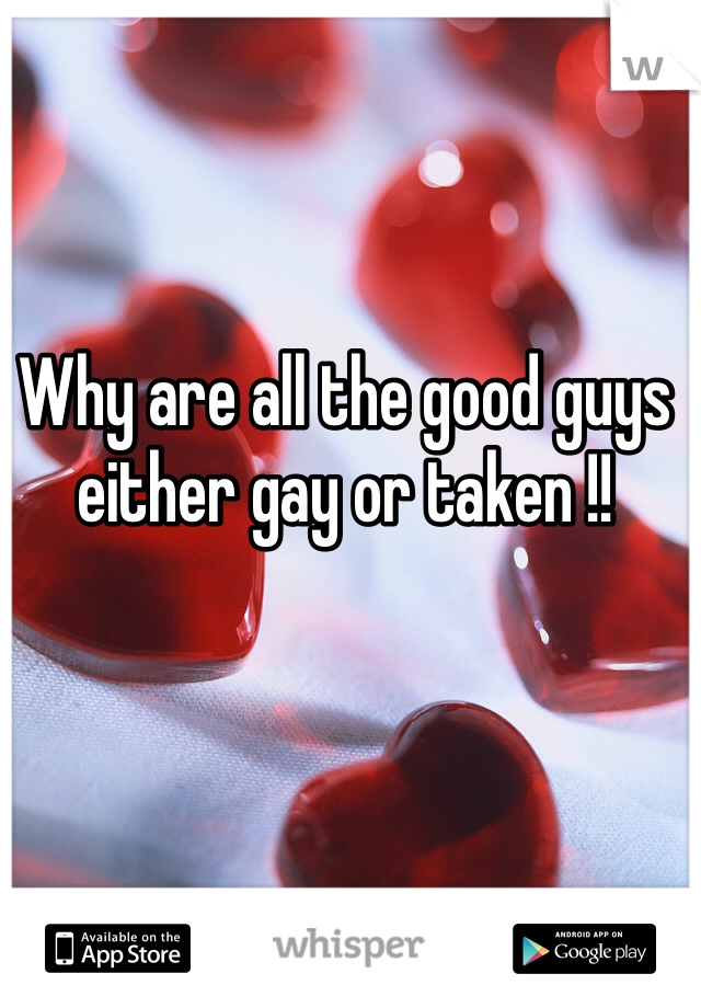 Why are all the good guys either gay or taken !!
