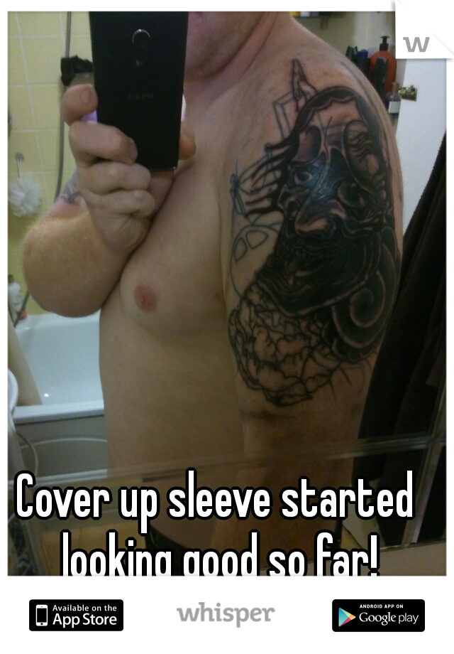 Cover up sleeve started looking good so far!