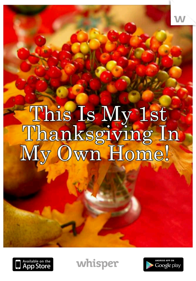 This Is My 1st Thanksgiving In My Own Home!