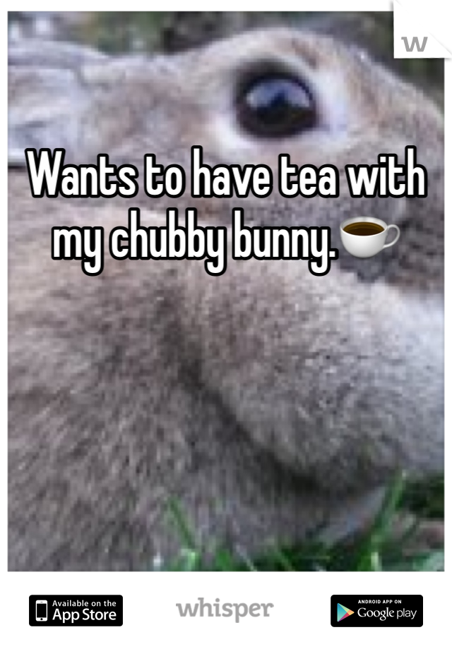 Wants to have tea with my chubby bunny.☕️