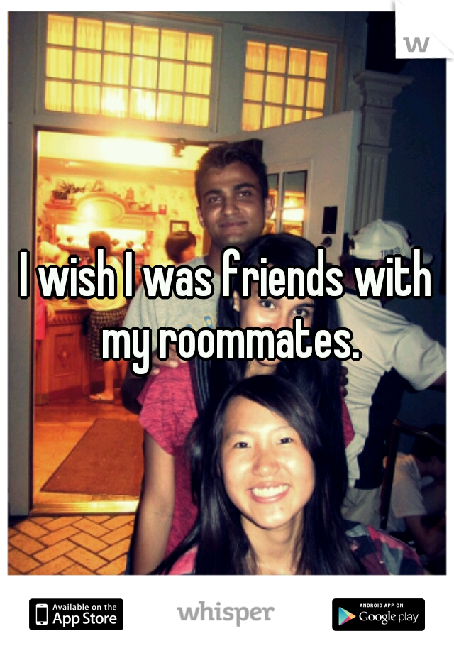 I wish I was friends with my roommates.