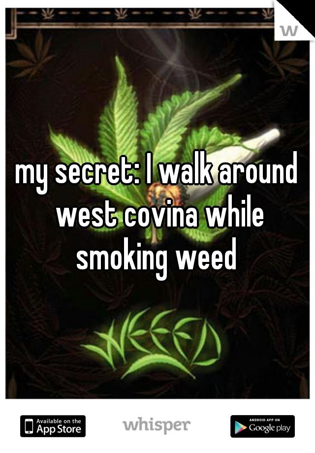 my secret: I walk around west covina while smoking weed