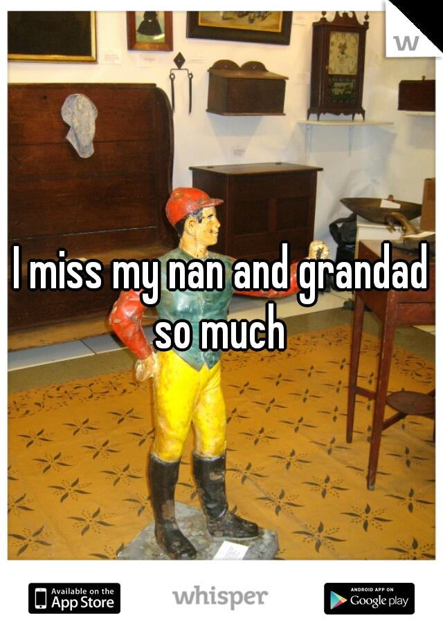 I miss my nan and grandad so much