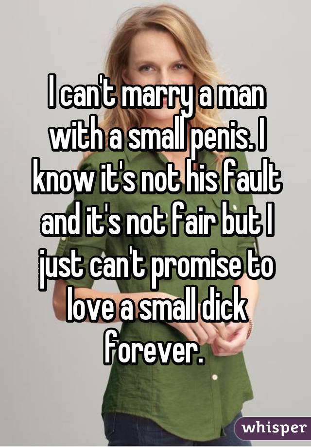 signs a man has a small penis