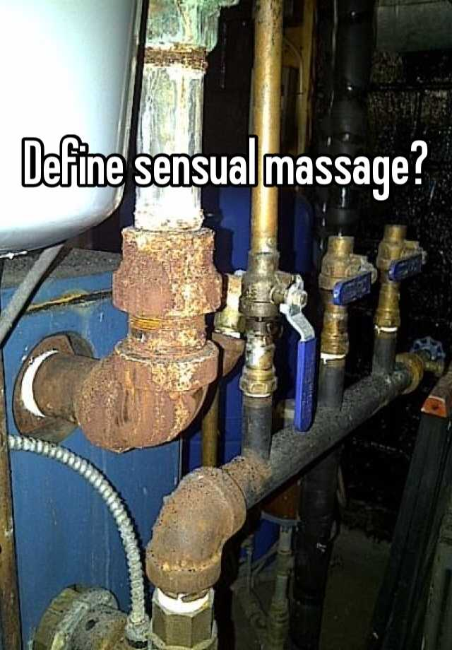 What does sensual massage mean