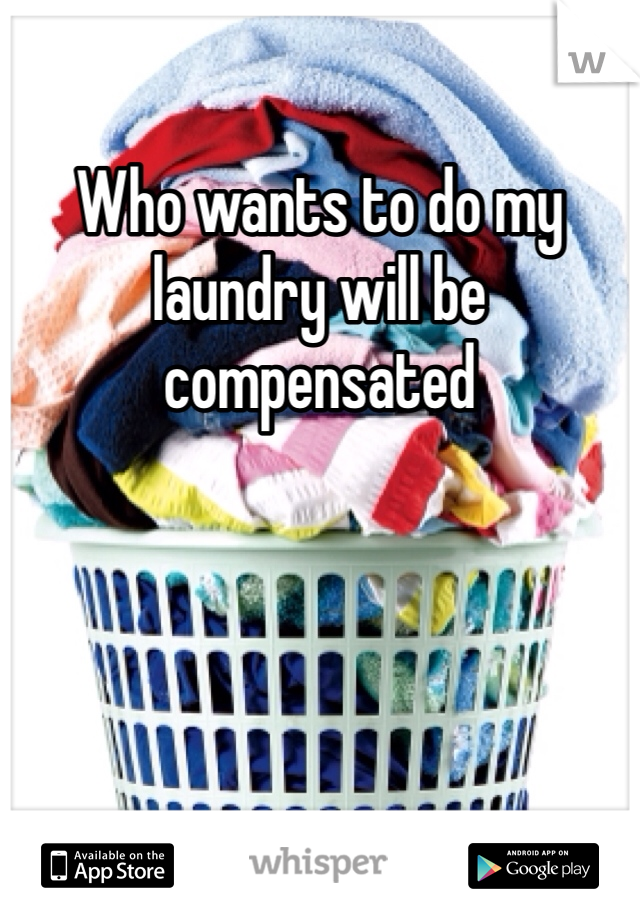 Who wants to do my laundry will be compensated
