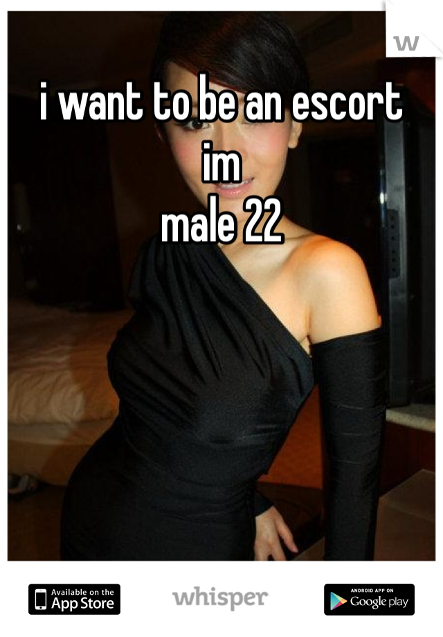 i want to be an escort  im male 22