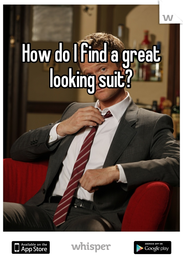 How do I find a great looking suit?