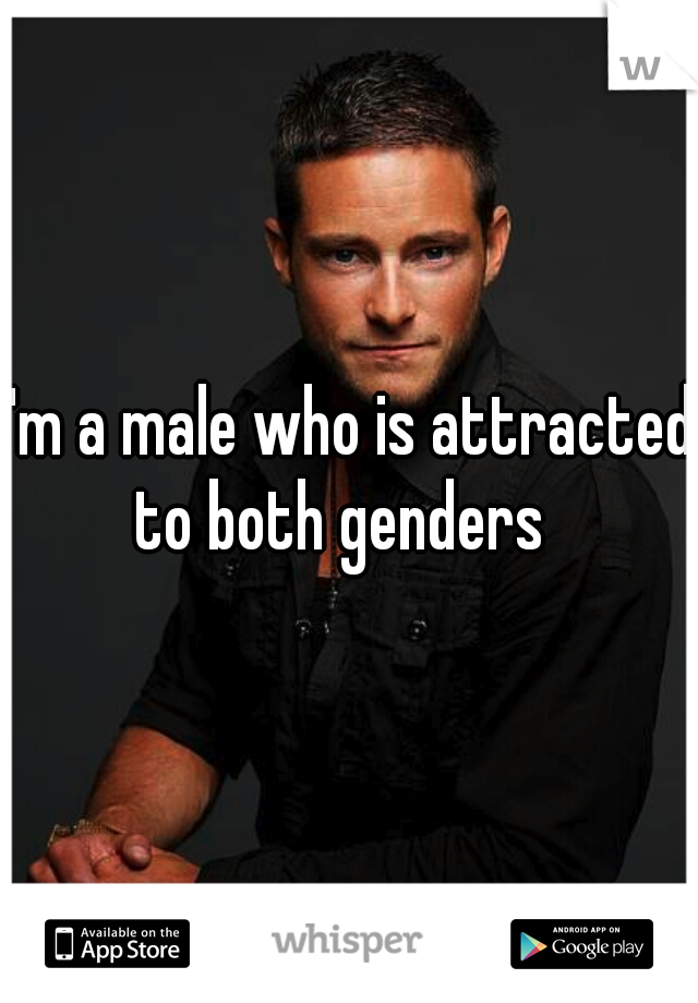 I'm a male who is attracted to both genders
