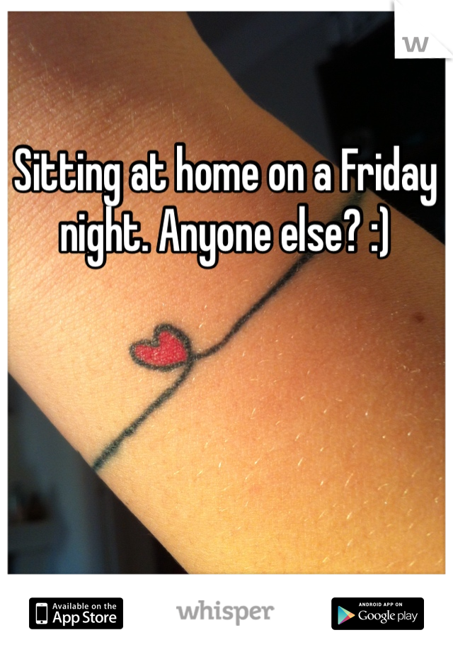 Sitting at home on a Friday night. Anyone else? :)