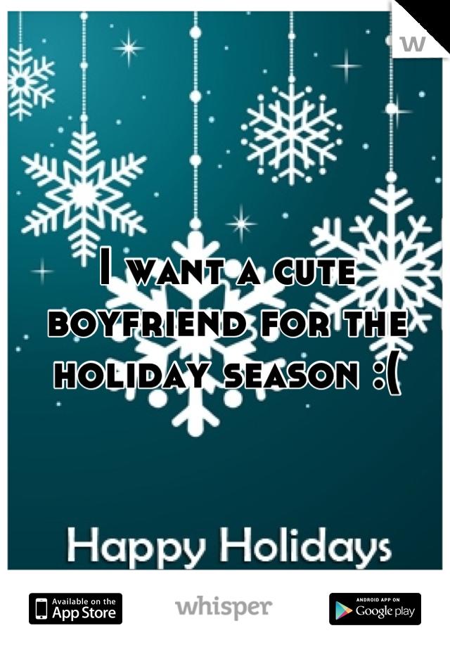 I want a cute boyfriend for the holiday season :(
