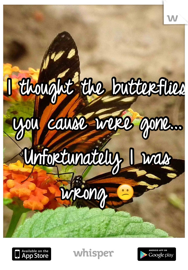 I thought the butterflies you cause were gone... Unfortunately I was wrong 😕