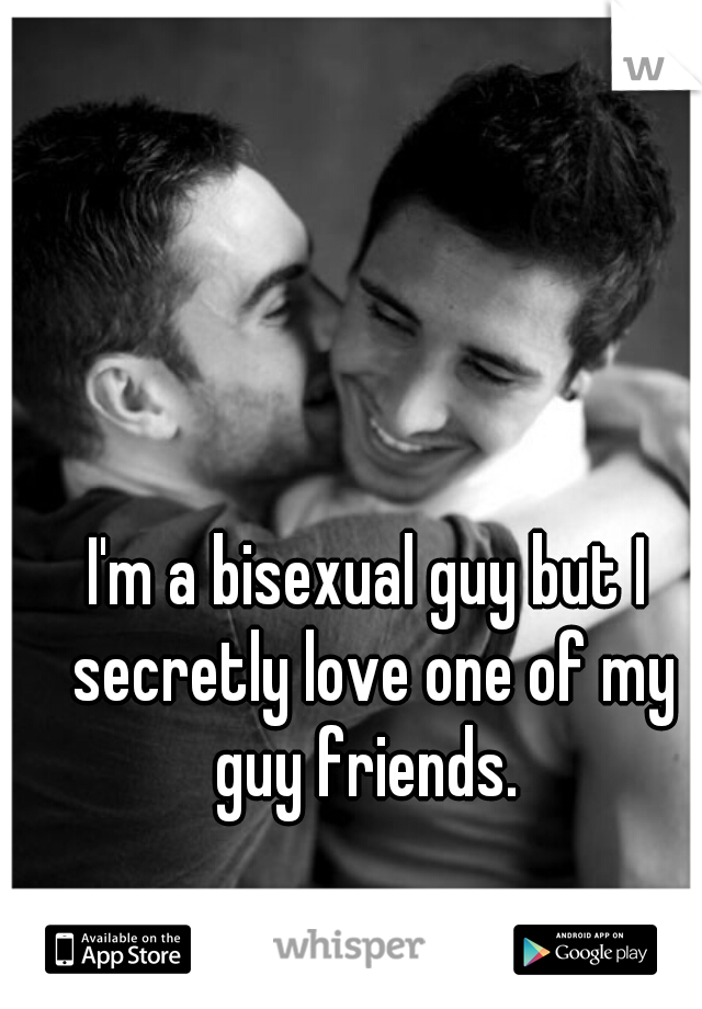 I'm a bisexual guy but I secretly love one of my guy friends.