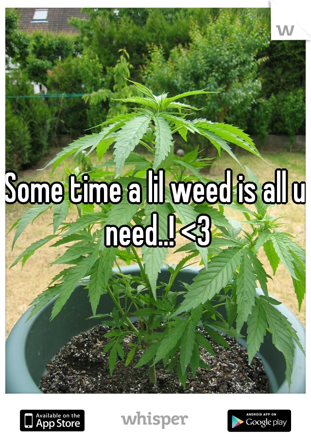 Some time a lil weed is all u need..! <3