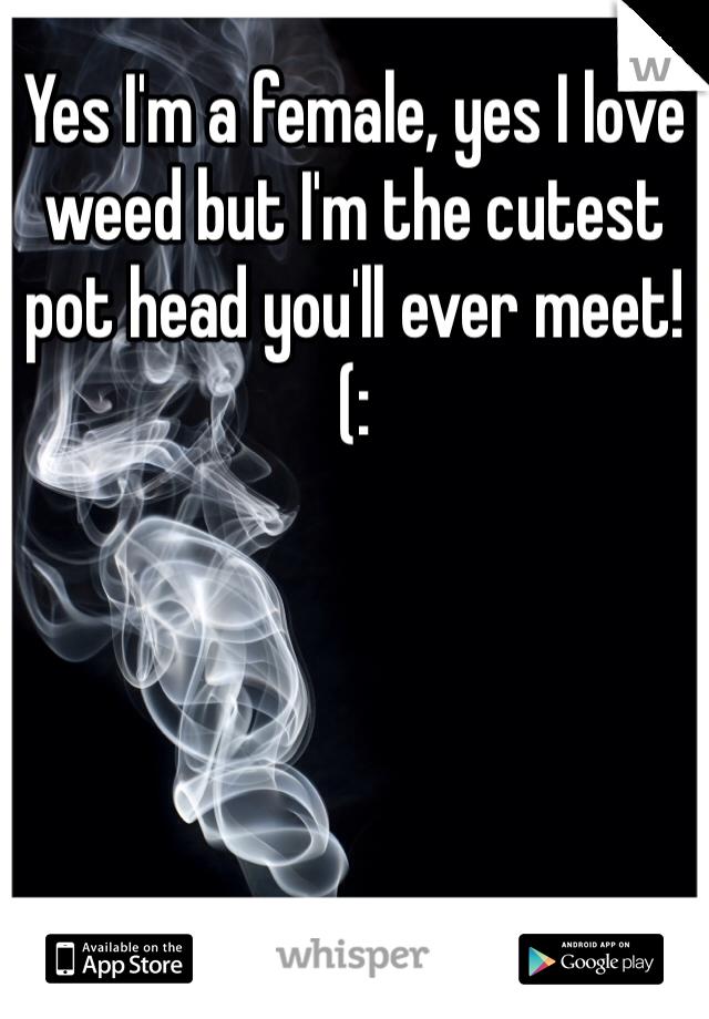 Yes I'm a female, yes I love weed but I'm the cutest pot head you'll ever meet! (:
