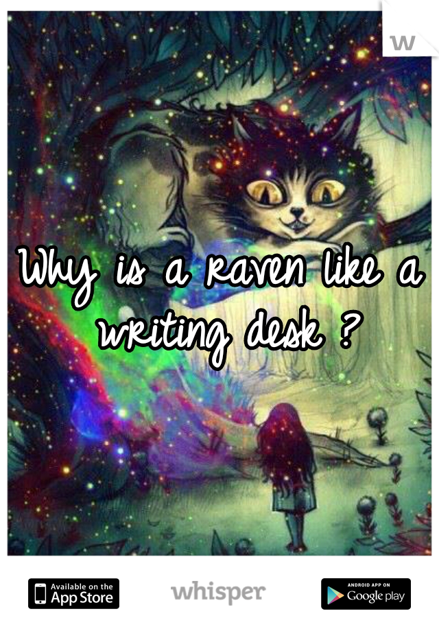 Why is a raven like a writing desk ?