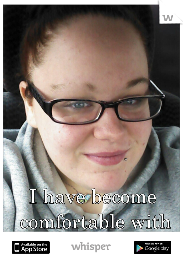 I have become comfortable with my natural look.