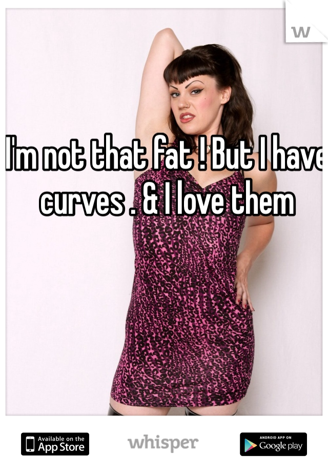 I'm not that fat ! But I have curves . & I love them