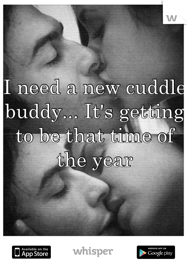 I need a new cuddle buddy... It's getting to be that time of the year