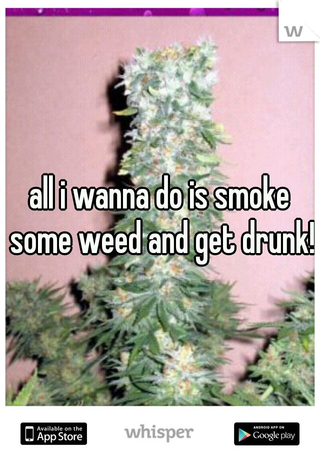 all i wanna do is smoke some weed and get drunk!