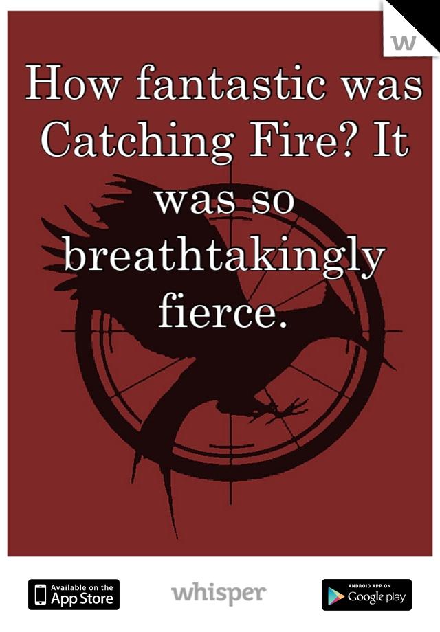 How fantastic was Catching Fire? It was so breathtakingly fierce.