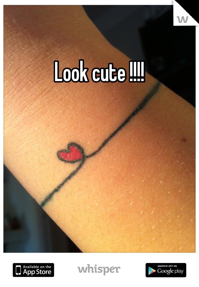 Look cute !!!!