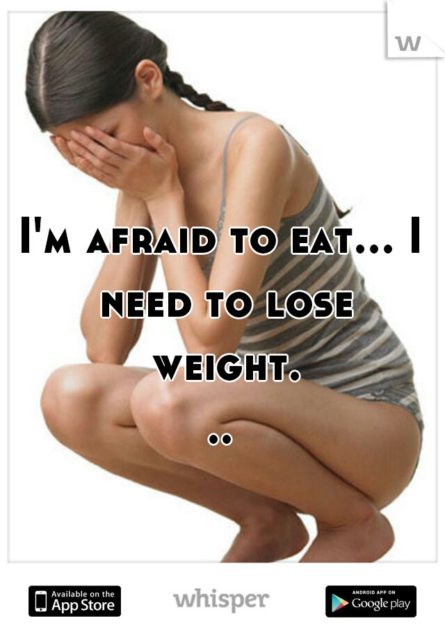 I'm afraid to eat... I need to lose weight...
