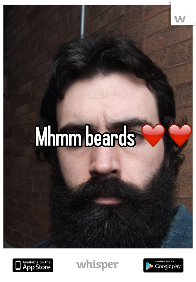Mhmm beards ❤️❤️