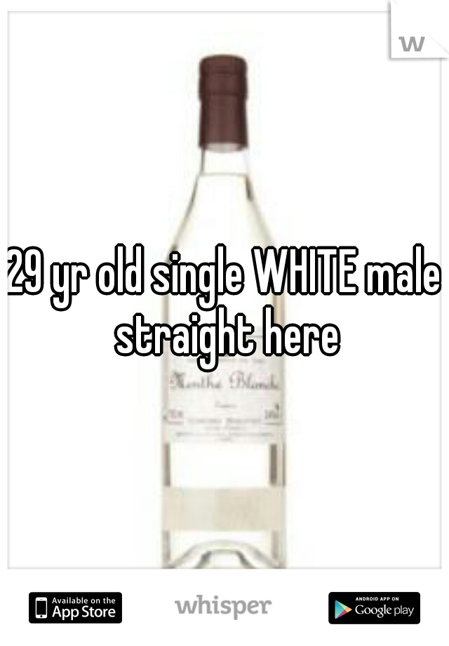 29 yr old single WHITE male straight here