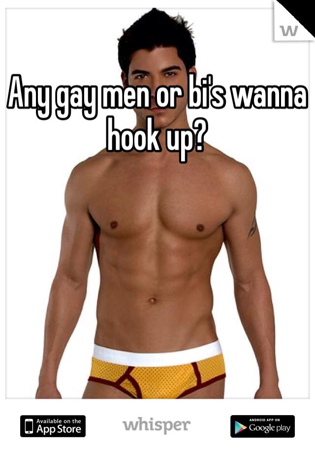 Any gay men or bi's wanna hook up?