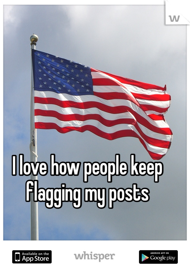 I love how people keep flagging my posts