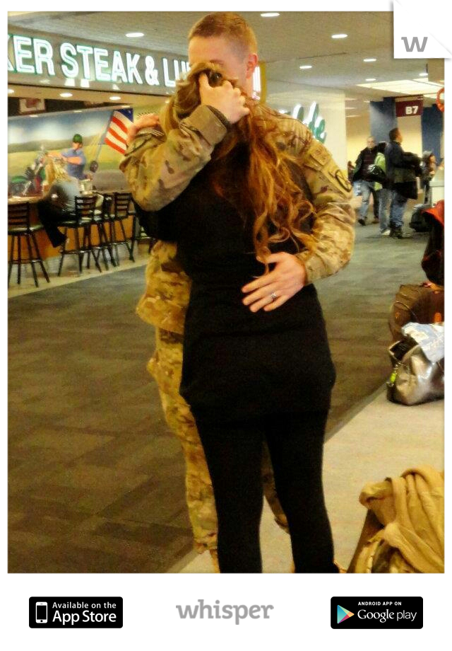 I want to see my soldier.To have him hold me and kiss me again. Its been too long.