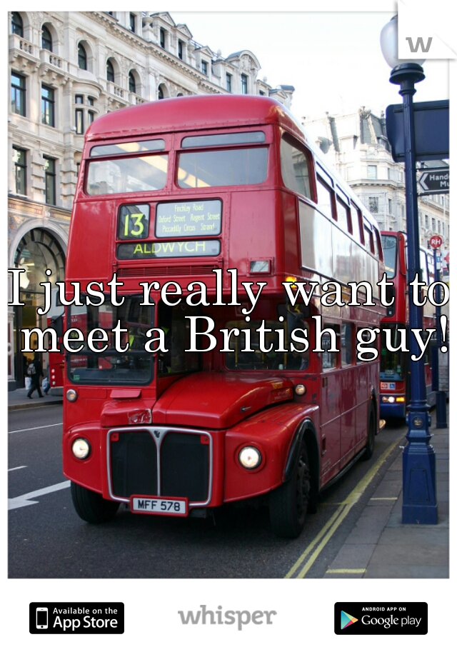 I just really want to meet a British guy!