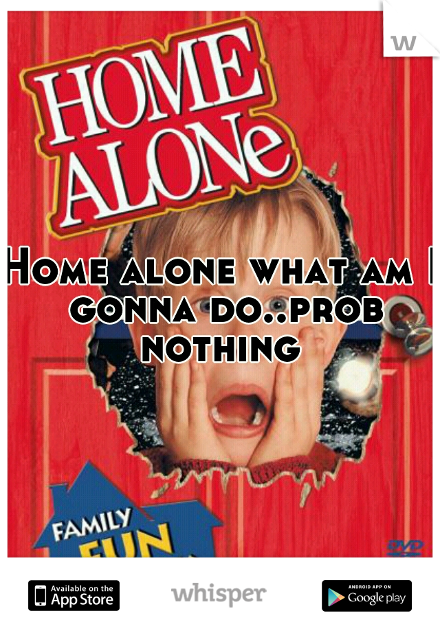 Home alone what am I gonna do..prob nothing