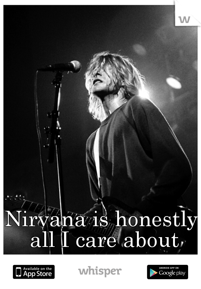 Nirvana is honestly all I care about anymore.