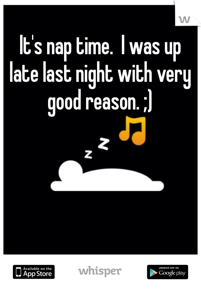 It's nap time.  I was up late last night with very good reason. ;)