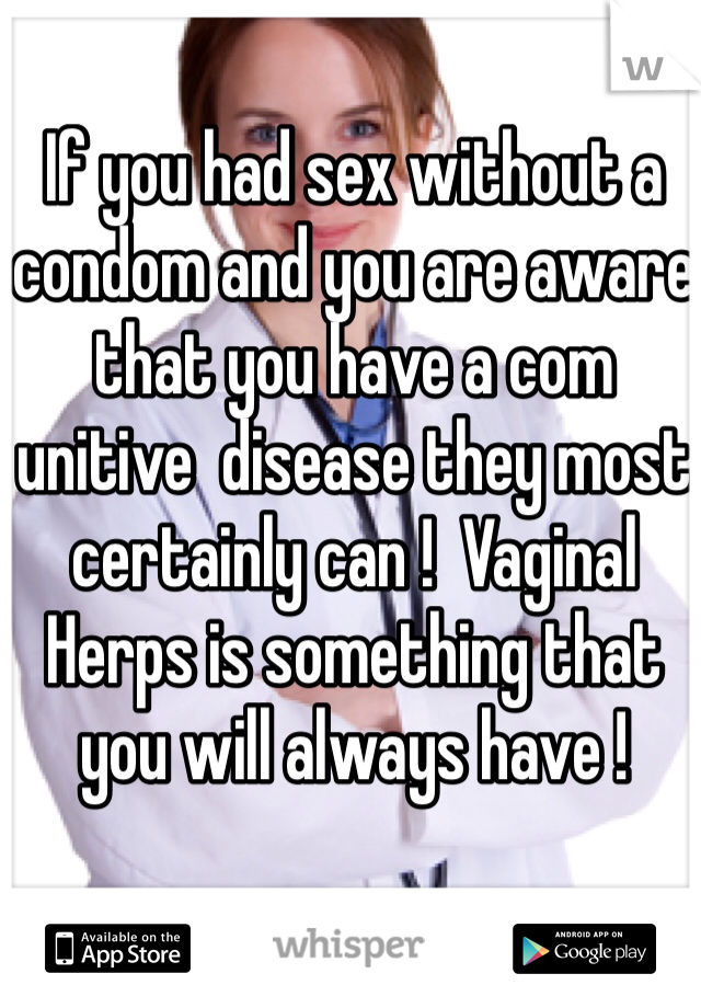 What if you had sex without condom