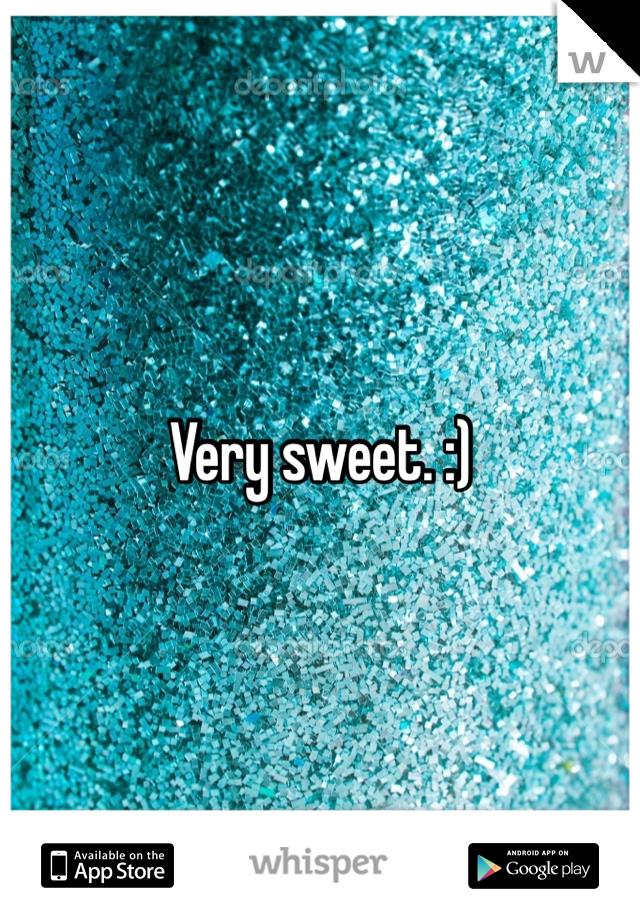 Very sweet. :)