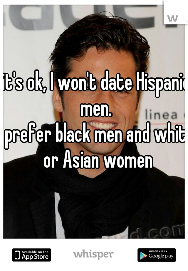 Asian women dating hispanic men