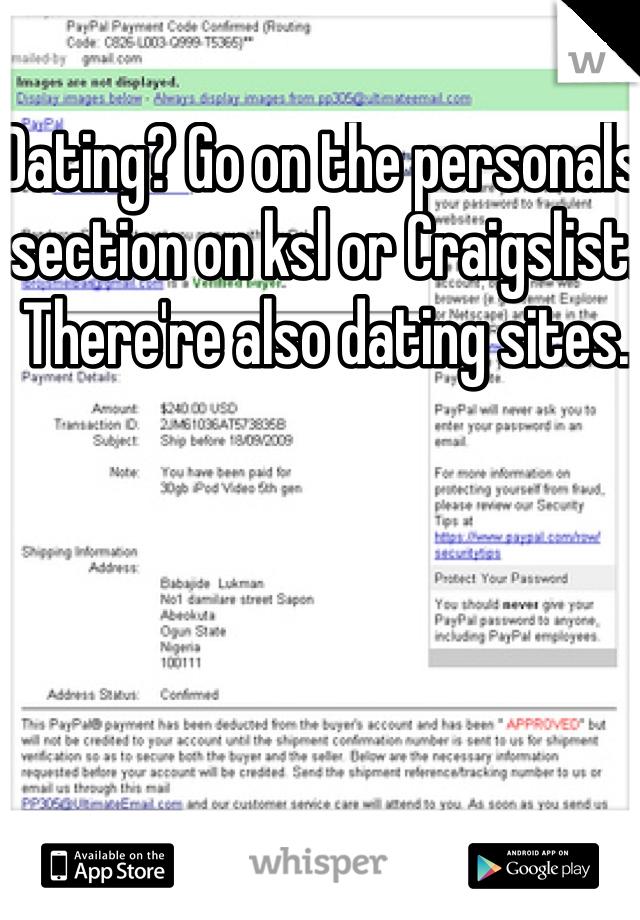 Dating sites craigslist