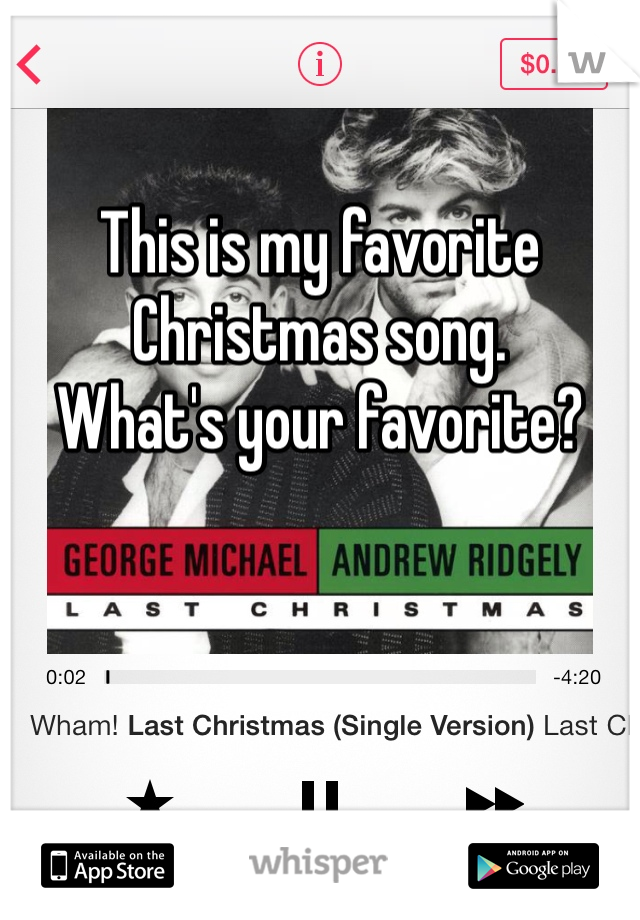 This is my favorite Christmas song. What's your favorite?