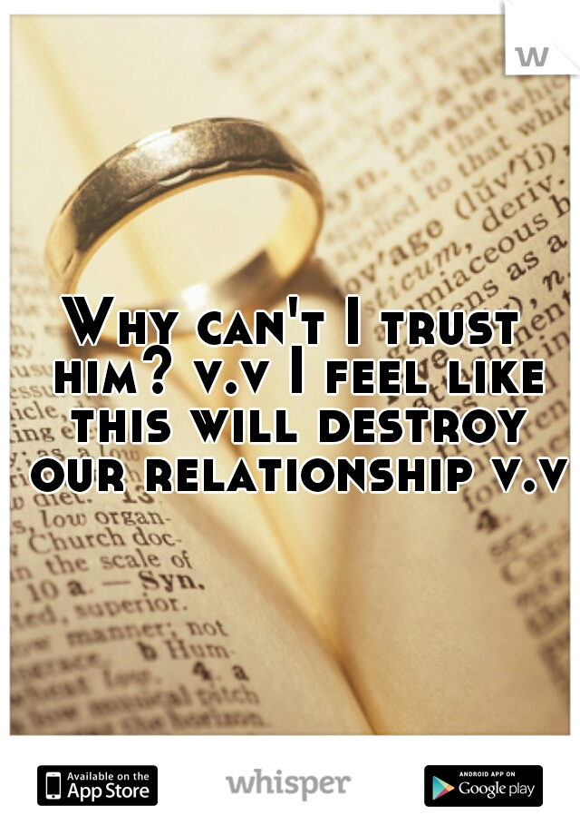 Why can't I trust him? v.v I feel like this will destroy our relationship v.v
