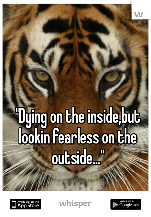 """""""Dying on the inside,but lookin fearless on the outside..."""""""