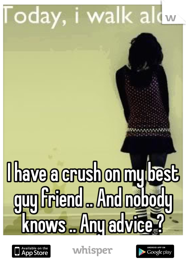I have a crush on my best guy friend .. And nobody knows .. Any advice ?