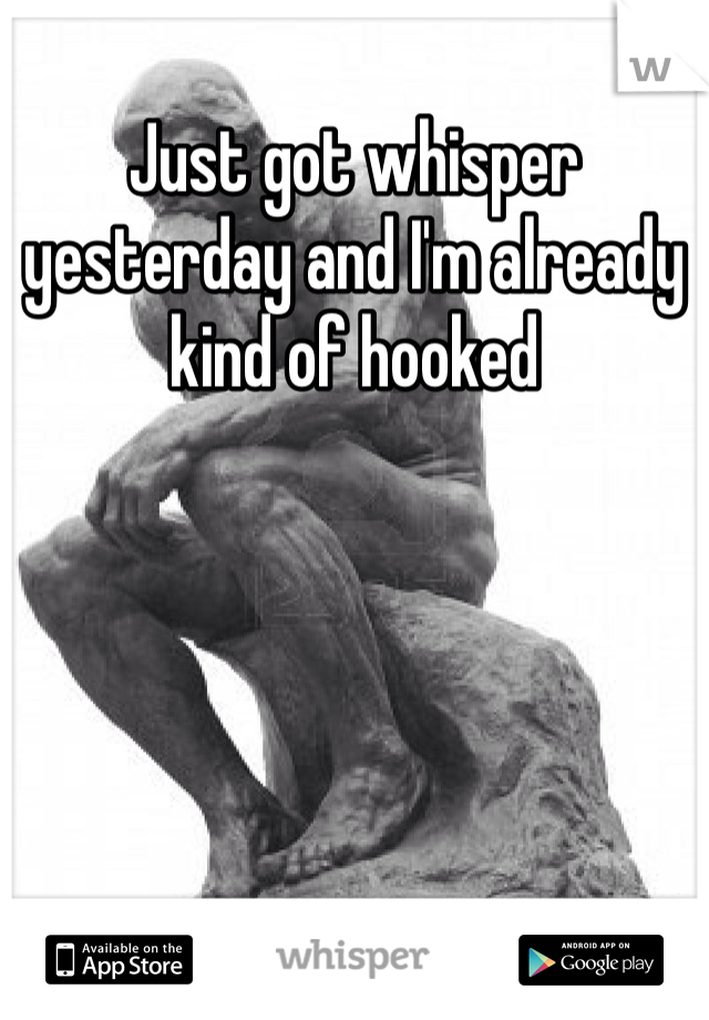 Just got whisper yesterday and I'm already kind of hooked