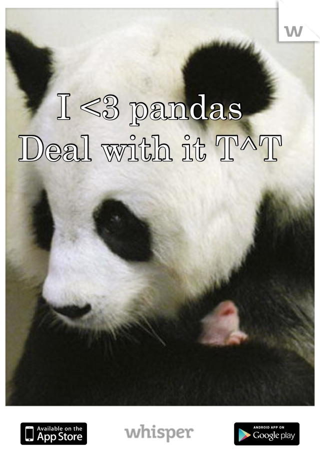 I <3 pandas  Deal with it T^T