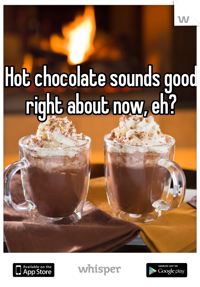 Hot chocolate sounds good right about now, eh?