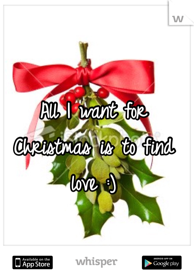 All I want for Christmas is to find love :)