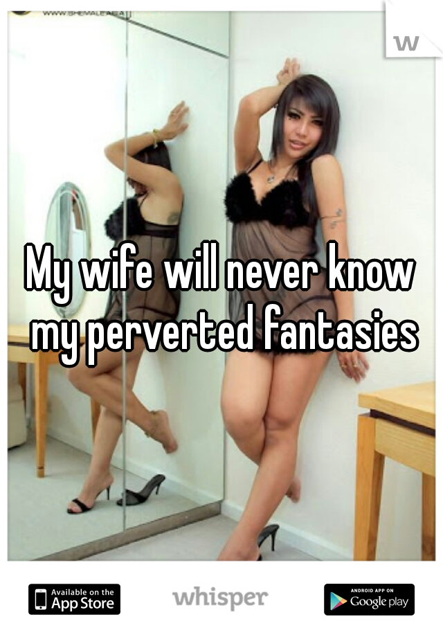My wife will never know my perverted fantasies
